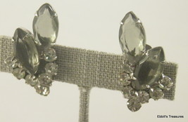 d and e faceted marquis cut smoky topaz crystals crystal clear rs clip o... - $29.95