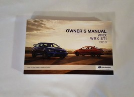 2018 Subaru WRX STI Owners Manual 05182 - $24.70