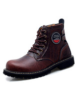 Autumn/Winter Working Boots For Men Black(Red Brown 9.5) - $66.41