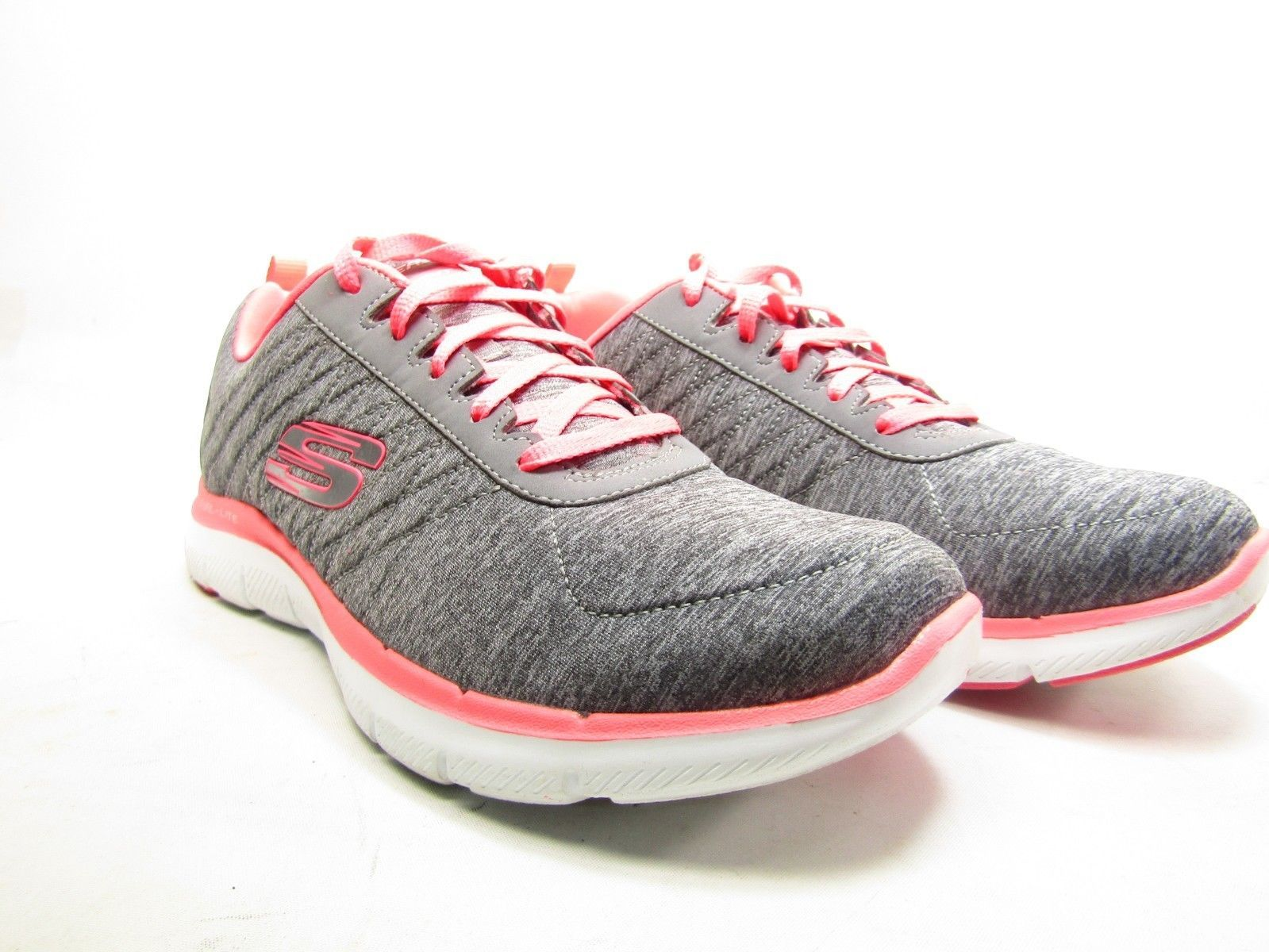 Skechers Flex Appeal 2.0 Womens Sneakers Gray/Coral Size 8.5