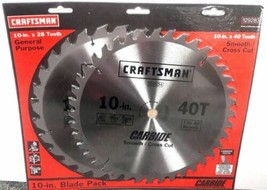 "Craftsman 29283 Dyanite Carbide 10"" x 40 10"" x 28 Tooth Circular Saw Blade - $15.84"