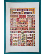 ITALY Greece Byzantine Paintings Ornaments - A. RACINET Color Lithograph... - $25.20