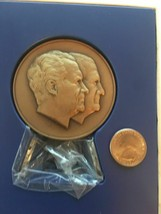 7 OZ RICHARD NIXON SPIRO AGNEW 1973 INAUGURATION VINTAGE BRONZE COIN - $15.00