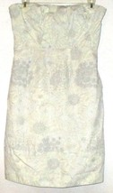 J.Crew WHITE/BLUE Print /POCKET Strapless Dress Size 4 - $9.00