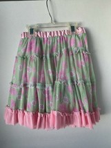 XOXO girls Size 6 Floral Mint green and pink ruffled layer skirt with tu... - $9.89
