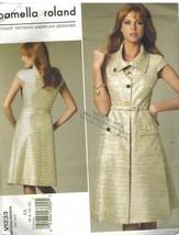 1233 Uncut Vogue Cucito Modello Misses Abito Cintura Pamella Roland Close - $8.98