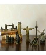 World Famous Building Metal Statue Pisa Eiffel Towel Egyptian Pyramid Co... - $21.77+