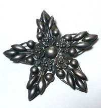 ANTIQUE VINTAGE CORO PEGASUS STERLING SILVER SIGNED STAR BROOCH - $200.00