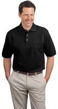 Port Authority K420P Men's Pocket Polo Shirt - Black - $21.18+