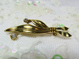 Vintage Antique 1940s Retro 14K 14KT Yellow Gold Leaf Pin Brooch 3.9 Gra... - $193.05