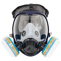 Complete Suit Trudsafe 6800 Painting Spraying Full Face Gas Chemical Mas... - $44.63