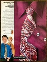 1970 Sears Men's Store Print Ad The Comfort Shirt Perma-Prest Men in Lou... - $11.69