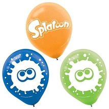 "Splatoon Nintendo Video Game Kids Birthday Party Decoration 12"" Latex Ba... - $7.17"