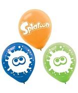 "Splatoon Nintendo Video Game Kids Birthday Party Decoration 12"" Latex Ba... - $7.17"