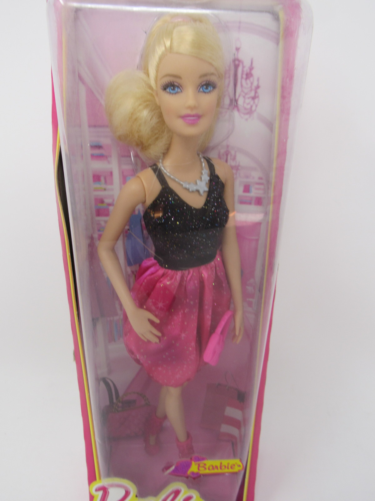 Barbie Fashionistas Doll in Pink and Black Puffer Dress