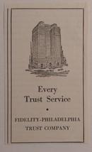 1939 Fidelity-Philadelphia Trust Company Advertisement - $18.00
