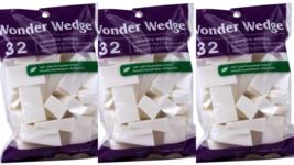 Wonder Wedge 32 Cosmetic Wedges Foundation Eyeshadow Blusher Pack of 3 - $10.76