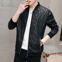 Autumn Style Fashion Men's Printed Casual Slim Jacket Male Round Neck Ja... - $42.84