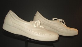 Rockport SuperSports Bone/Ivory Casual Cool Moccasin Sewn Sneaker Sz. 7.... - $30.84