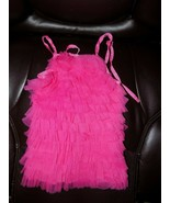 MUDPIE BOUTIQUE BRIGHT PINK TULLE DRESS SIZE 9/12 MONTHS GIRL'S EUC - $23.49