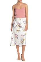 Material Girl White Floral Alligator Printed Midi Slip Skirt Women's Siz... - $20.89