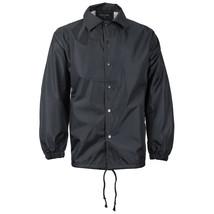 Renegade Men's Lightweight Water Resistant Button Up Windbreaker Coach Jacket image 2