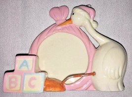 ABC Stork Baby Picture Frame Pink (Standing or Hanging) - $7.46