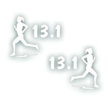 Marathon 13.1 GIRL WOMAN running decal sticker PAIR for Olympic mile run... - $8.83