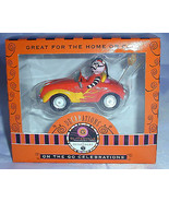 New Dept 56 Lenox Glitterville Halloween Ornament Devil In Orange Car Ch... - $12.99