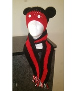 Kids Mickey Mouse Handmade Crochet Hat & Scarf Set - $40.00