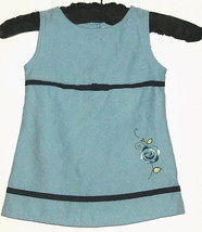 GIRLS BLUE FLOWER AND BOW DRESS SIZE 12M - $3.00
