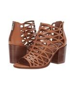 Vince Camuto Kevston Leather Block Heel Sandals, Multiple Sizes Brick VC... - $99.95