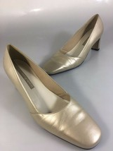 """Easy Spirit Womens 9.5 B Gold Leather Classic 2 3/4"""" Heels Pumps Shoes - $44.55 CAD"""