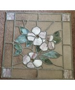Beautiful Hand Crafted Stained Leaded Glass Window - BEAUTIFUL FLORAL DE... - $148.49