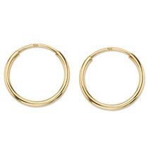 "10k Yellow Gold Eternity Tubular Hoop Earrings (1/2"") - $59.99"