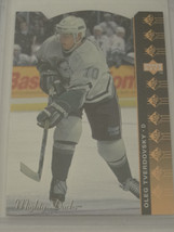 1994-95 Upper Deck UD SP Insert Die Cut #SP-93 Oleg Tverdovsky Ducks Card - $0.99