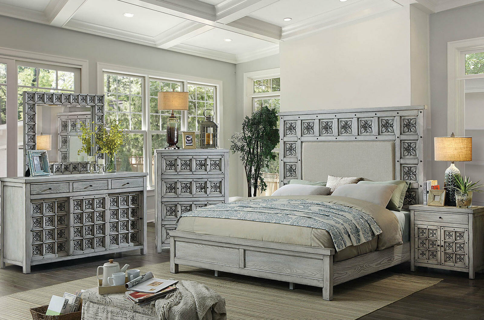 new transitional gray wood bedroom suite furniture