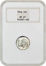 1946 10c NGC MS67 (OH) - Roosevelt Dime - Old NGC Holder - $72.75