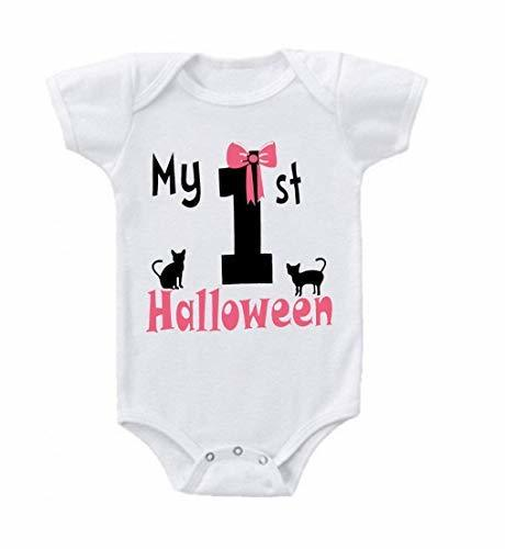 Primary image for Baby Girl My First Halloween Baby Bodysuit Romper 6-12 Months White