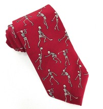 Skeletons Playing Sports Anatomical Chart Company Red Tie Silk Necktie - €14,93 EUR