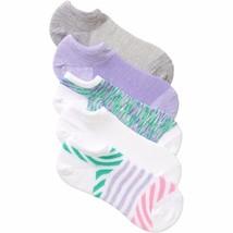 No Boundaries No Show Socks 5 Pair Women's Shoe Size 4-10 Green Purple   #32 - $9.89