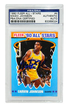 Magic Johnson Signed Los Angeles Lakers 1990 Fleer All Star Trading Card... - $125.00