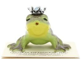 Hagen-Renaker Miniature Frog Prince Kissing Birthstone 03 March Aquamarine image 1