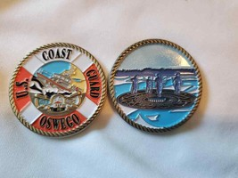 "COAST GUARD STATION OSWEGO 1.75"" CHALLENGE COIN  - $17.09"