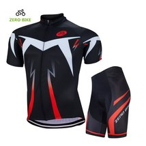 ZEROBIKE Men's Short Sleeve Breathable Cycling Jersey Padded Pant Outdoo... - $29.69