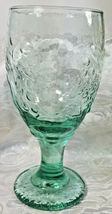 "Vintage Libbey Spanish Green Orchard Fruit Water Goblet 7"" image 5"