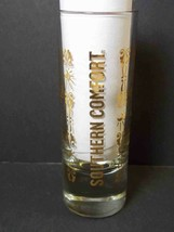 Southern Comfort shooter vertical gold lettering & design on clear - $7.03