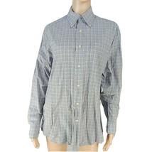 Tommy Hilfiger S Gray Plaid Long Sleeve Button Up Dress Shirt - $38.02