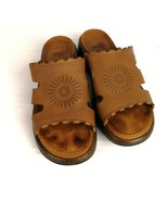 Dansko Brown Leather Sandals Slip On Open Toe Sz 9.5 EU 40 Comfort - $39.99