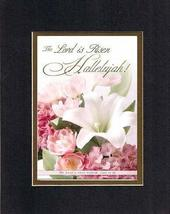 The Lord is Risen Hallelujah! 8 x 10 Inches Biblical/Religious Verses set in Dou - $11.14